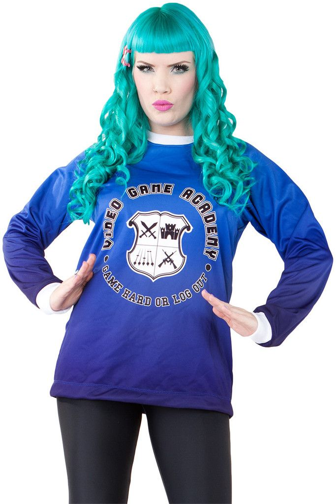 Living Dead Clothing - Video Game Academy Sweater, Size M