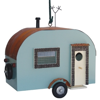 Caravan bird house...just incase the birds fancy a weekend away..