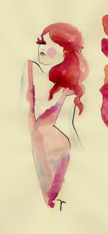 aries watercolor & ink