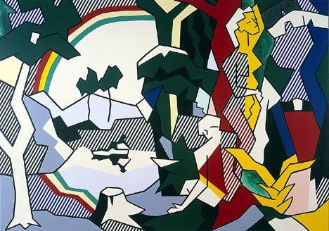 Landscape with figures and rainbow - Lichtenstein- Art Institute of Chicago (Visit 08/13)