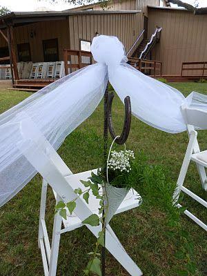 horseshoe hook rustic wedding