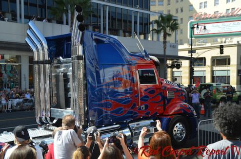 Optimus Prime (truck form)  Transformers' Biggest Star, Optimus Prime, Honored at Handprint Ceremony at Chinese Theatre; Transformers: Age of Extinction Now Available on VOD, Blu-Ray 3D #Photos #Video #TRANS4MERS #OptimusPrime #OptimusInHollywood   http://www.redcarpetreporttv.com/2014/09/30/transformers-biggest-star-optimus-prime-honored-at-handprint-ceremony-at-chinese-theatre-transformers-age-of-extinction-now-available-on-vod-blue-ray-3d-photos-video-trans4mers-optimusprime/