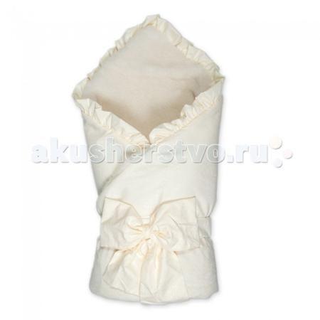 Сонный гномик Конверт-одеяло на выписку Ваниль с мехом  — 1190р.   Конверт-одеяло на выписку Ваниль с мехом из полотна микрофибры, отделанный рюшами. Изделие утеплено синтепоном. Декорирован конверт рюшами и красочным бантом.  Тёплый одеяло-конверт на выписку из роддома Верхняя ткань - микрофибра Подкладка: счес из натуральной овечьей шерсти Утеплен синтепоном плотностью 200 г/м3 Отделка рюшами и бантом Размер 88 х 88 см
