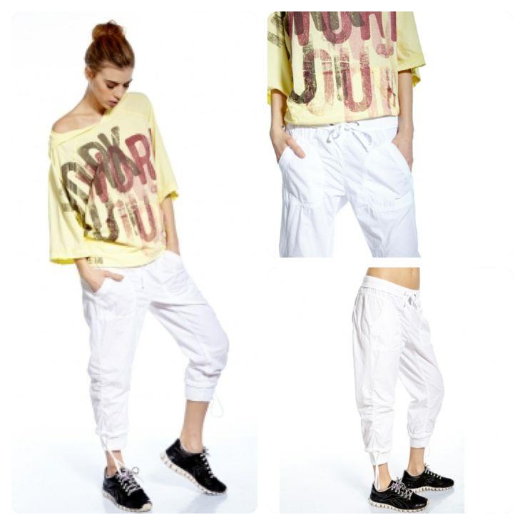 Pantacourt blanc en coton Victoria: très cool et stylé