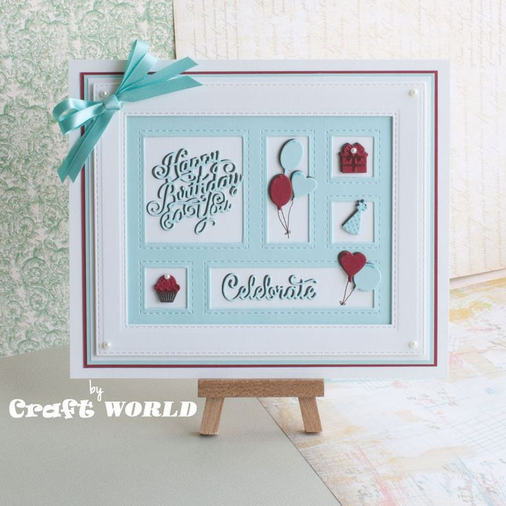 Uses the new Sue Wilson die: Shadow Box Collection - Birthday (CED9301)