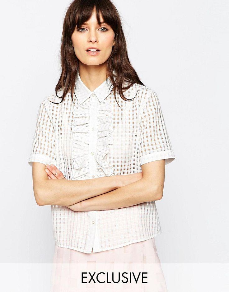 Le+Kilt+for+ASOS+Textured+Ruffle+Shirt