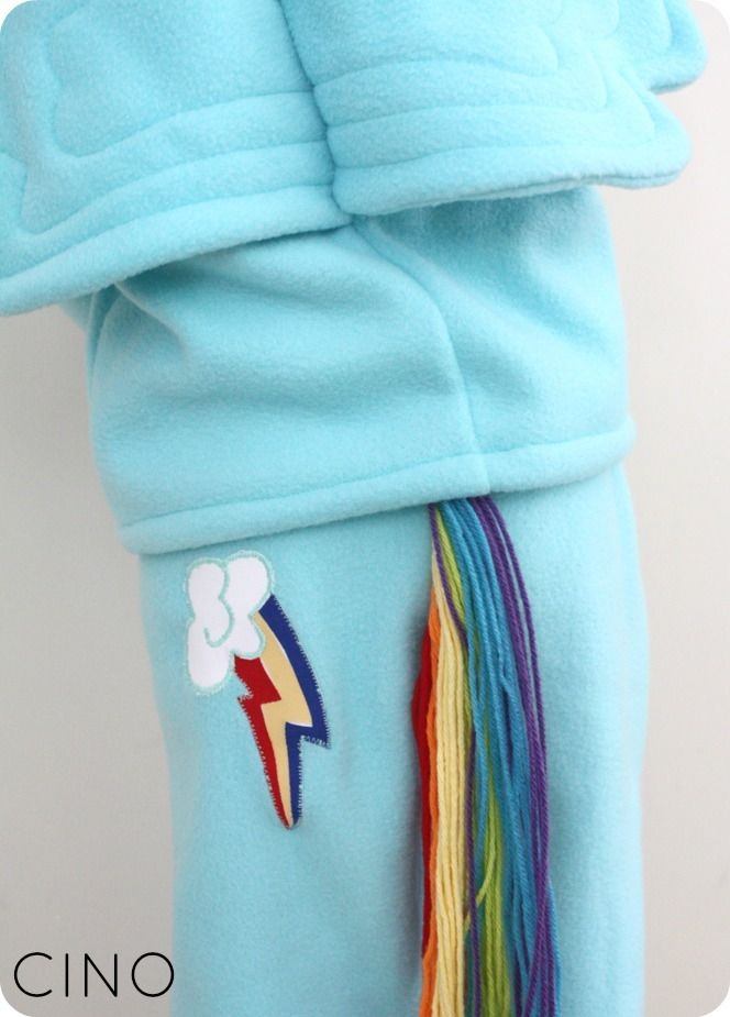 Rainbow Dash costume tutorial - the pants ~ from Craftiness is not Optional