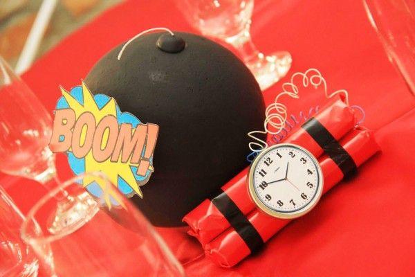 Bomba BOOM Festa Super Heróis