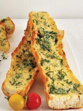Taze otlu ve sarımsaklı ekmek Tarifi - Parti Yemekleri - Yemek Tarifleri