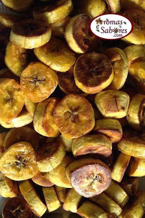 """Aromas e Sabores: Banana da terra """"frita"""" no forno"""