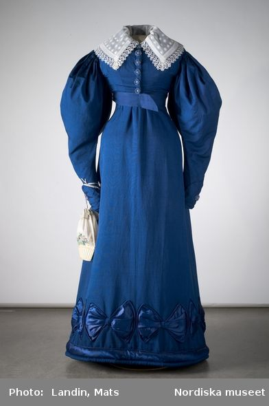 Day dress, ca 1826-28, Nordiska Museet