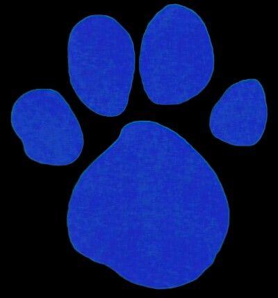 Blue's clues paw print...