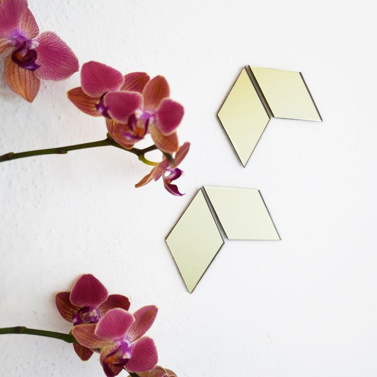 BiCA-Good Morning Design  Opus tangram | golden adhesive acrylic mirrors