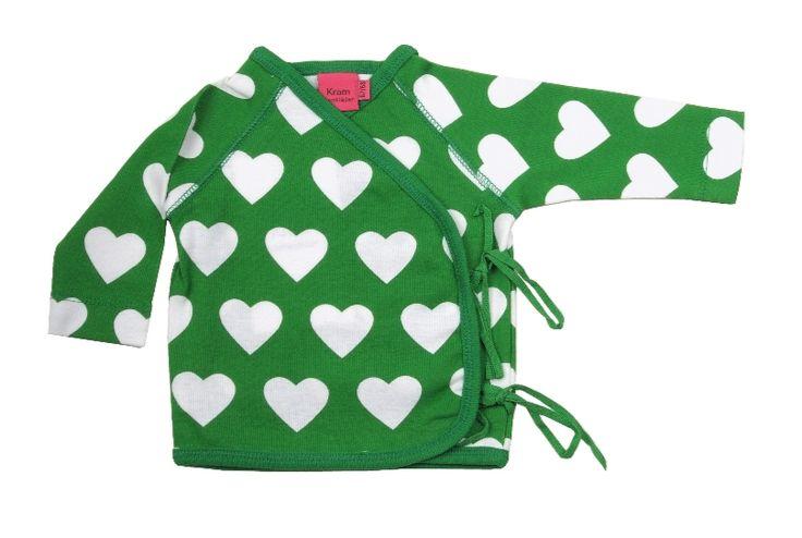 KRAM barnkläder- Omlott tröja grön - Ziggys barnkläder