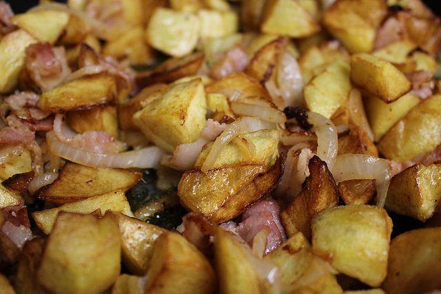 Portuguese potatoes and pork