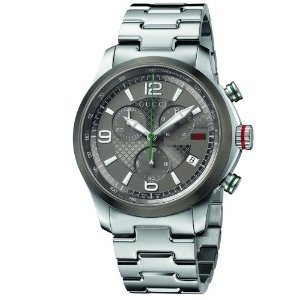 Gucci Gucci Timeless Diamond Pattern Anthracite Dial Watch    YA126238