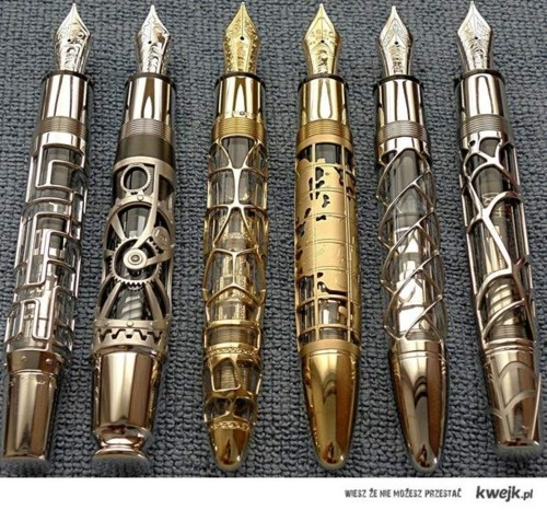 pensMontblanc, Hands Made, Monte Blanc, Fountain Pens, Skeletons, Doctors Who, Steam Punk, Writing, Steampunk