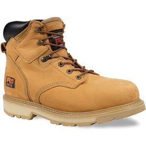 """MENS TIMBERLAND PRO PIT BOSS 6"""" SOFT TOE WIDE BOOTS WHEAT NUBUCK SIZE 8 - http://authenticboots.com/mens-timberland-pro-pit-boss-6-soft-toe-wide-boots-wheat-nubuck-size-8/"""