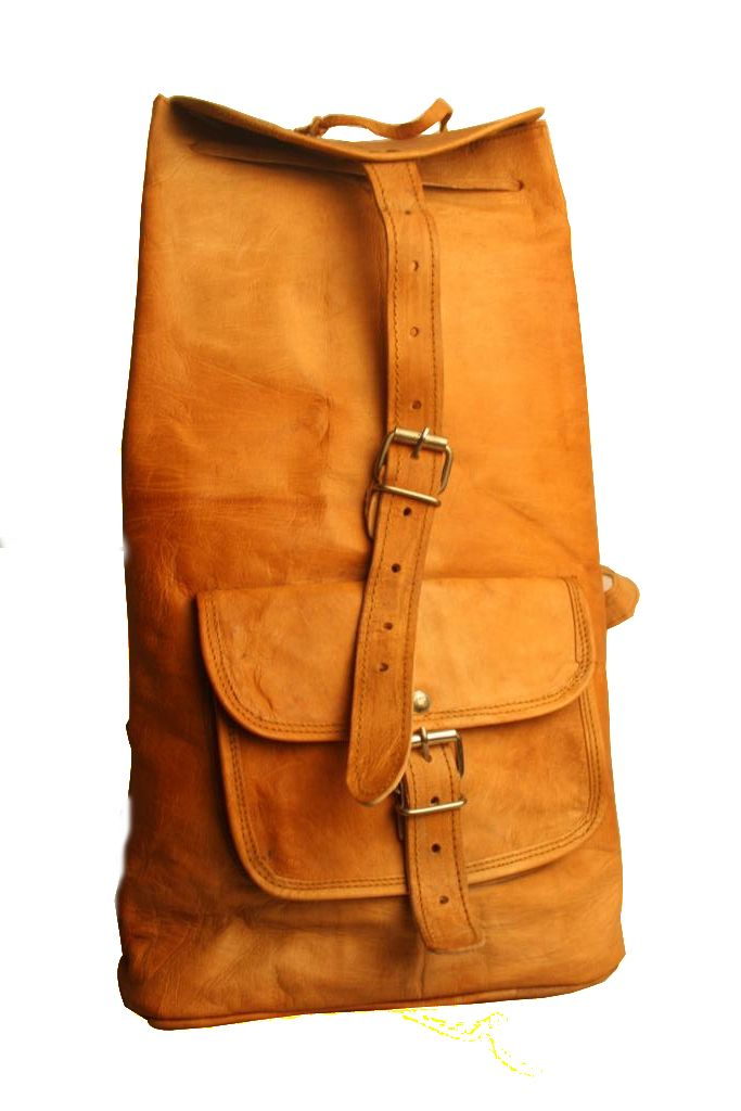 Handmade Leather Messenger Front Pocket With Handle Bag