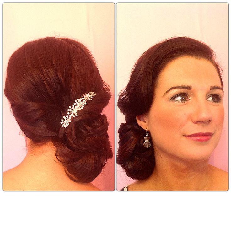 Wedding Hair Bridal Style Low Side Textured Loose Bun