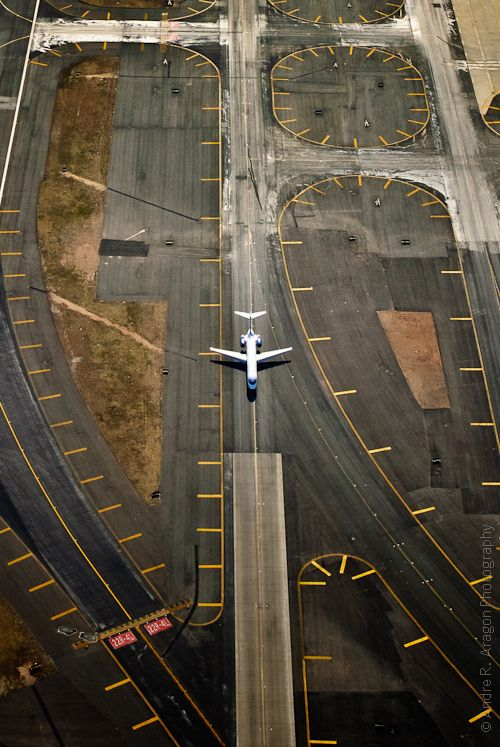 Over the Numbers at Liberty International Airport Aerial Photo