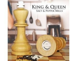 King & Queen Salt & Pepper Mills