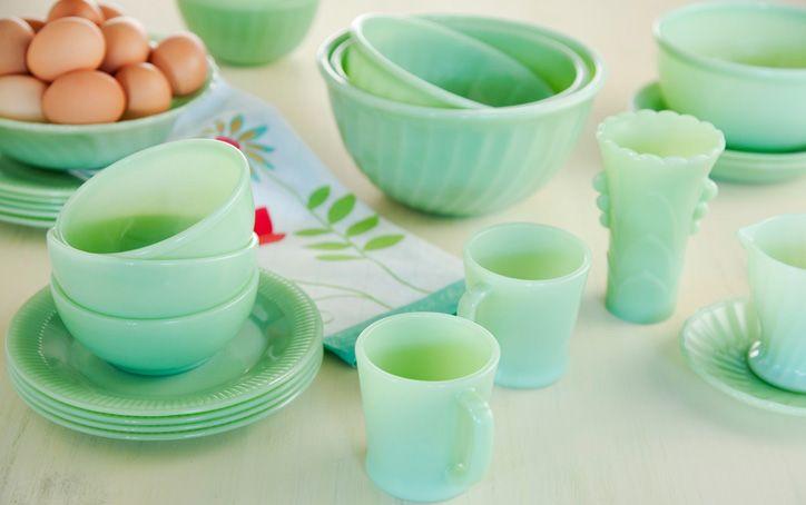 vintage jadeite dishes