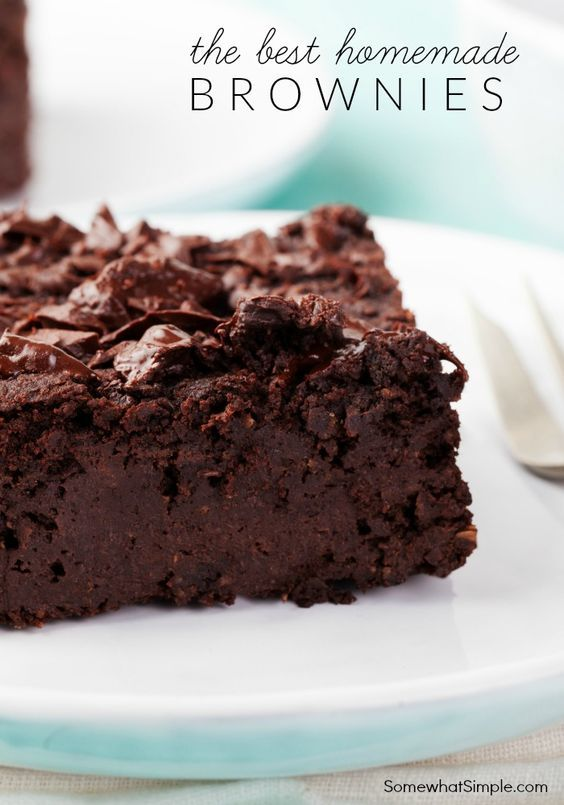 (6) The Best Homemade Brownie Recipe - SomewhatSimple.com | Food I want to try | Pinterest