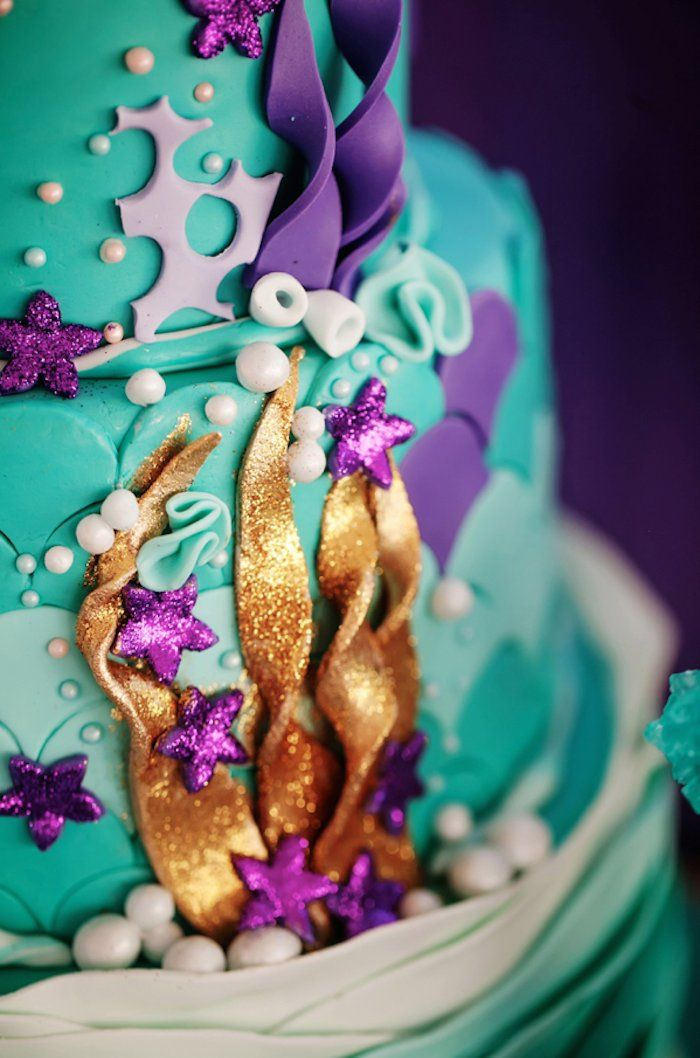 Splish Splash Mermaid Bash Birthday Party via Kara's Party Ideas KarasPartyIdeas.com Printables, decor, cake, favors, tutorials, cupcakes, and more! #mermaidparty #mermaidbash #mermaidcake #mermaid (28)