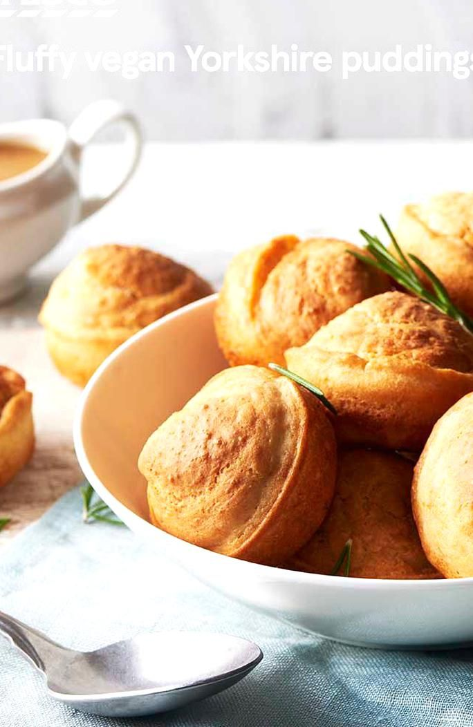 Light And Fluffy These Vegan Yorkshire Puddings Make The Ultimate Apaniment To Any Roast Or S In 2020 Vegan Yorkshire Pudding Yorkshire Pudding Delicious Vegan Recipes