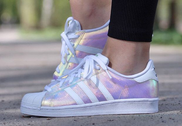 Iridescent Adidas superstar shoes // available from shoe asylum £66 - Adidas Shoes for Woman - http://amzn.to/2gzvdJS