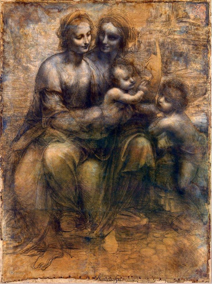 Leonardo Da Vinci: The Virgin and Child with St Anne and St John the Baptist