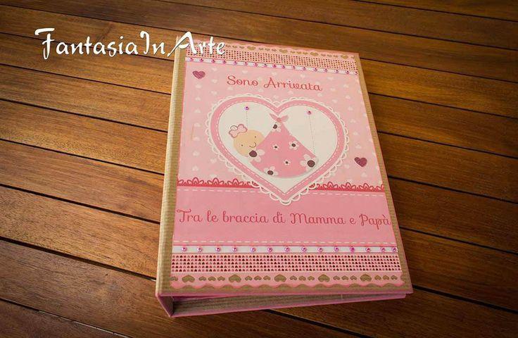 Album Fotografico Artigianale Nascita Bimba in stile Scrapbooking, by…