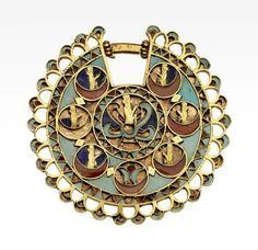 Earring  Near Eastern, Iranian, Persian, Achaemenid, 525–330 B.C.  #Iran #Iranian  #Persia #Persian