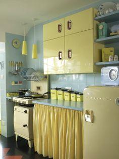 vintage kitchen curtains - Google Search