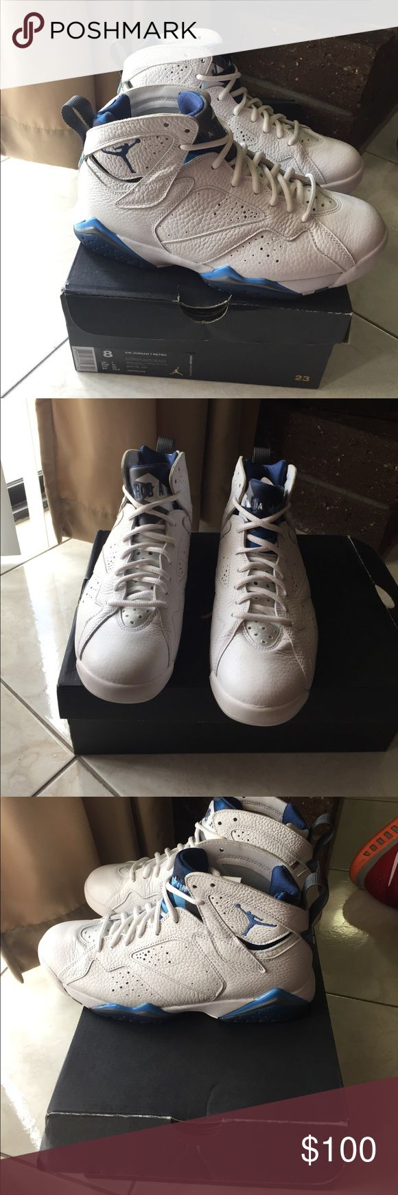 Jordan retro 7 Wore maybe twice, still look and smell brand new Jordan Shoes Athletic Shoes