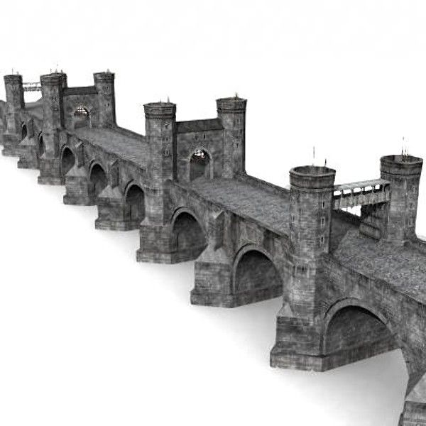 3d medieval bridge model - Bridge by Medievalworlds from TurboSquid.com