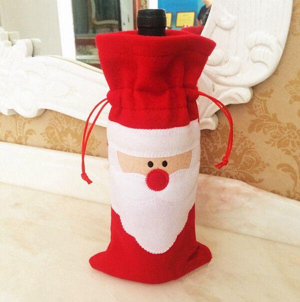 Бутылка воды Сумка Красный Санта-Клаус Стиль Ткань Искусство детских Бутылочек Охватывает Открытый Путешествия Питьевой Воды Бутылка Молока Хранения мешок
