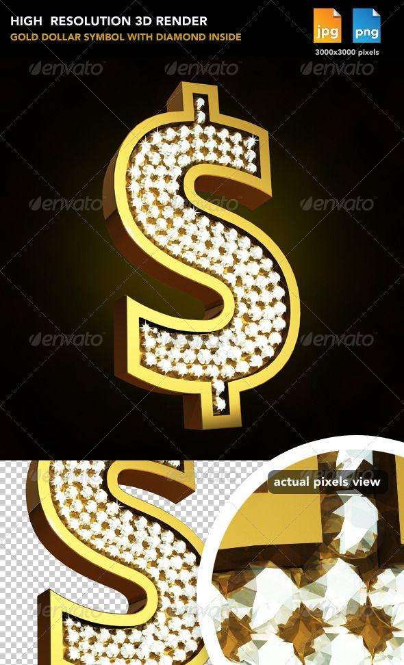 Gold Sign Dollar  #GraphicRiver         Gold sign dollar with diamond inside     Created: 17August11 GraphicsFilesIncluded: TransparentPNG #JPGImage Layered: No MinimumAdobeCSVersion: CS PixelDimensions: 3000x3000 Tags: bank #blinkblink.shiny #cool #diamond #dollar #dollarsign #euro #eurosign.money #financial #gold #golddollar #silver