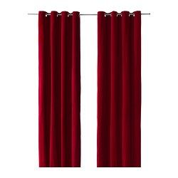 """SANELA curtains, 1 pair, red Length: 98 """" Width: 55 """" Weight: 2 lb 3 oz Length: 250 cm Width: 140 cm Weight: 1.00 kg... perhaps for my closet"""