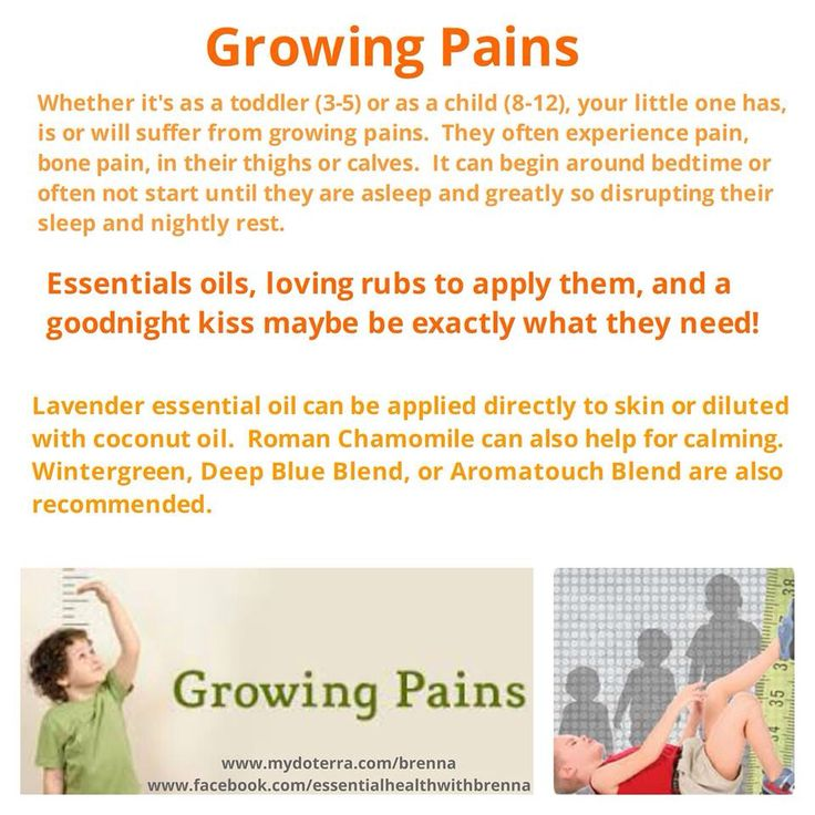 how to help a child with growing pains