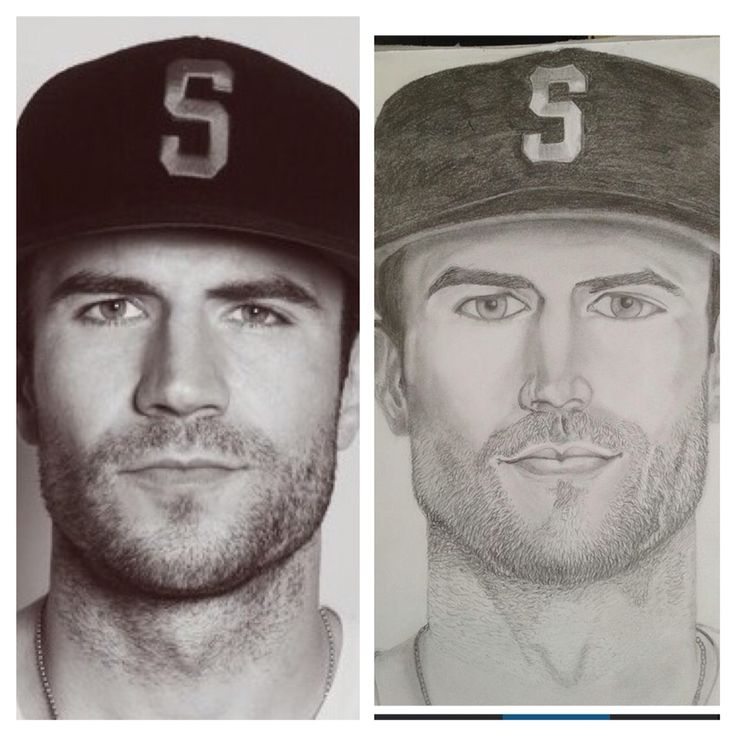 Sam Hunt portrait, pencil drawing