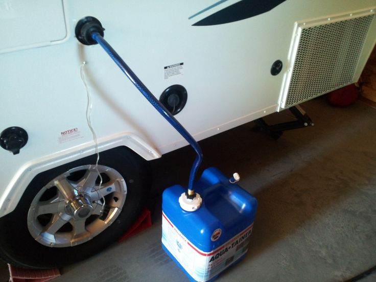 Grey Water Container Using An Aquatainer Make It Easy To Catch And Dispose Grey Water From Your A F A Frame Camper Camping Trailer Vintage Trailers Restoration