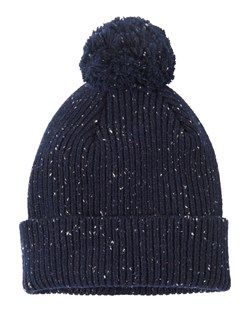 FINE DONEGAL RIB BOBBLE BEANIE by TOAST