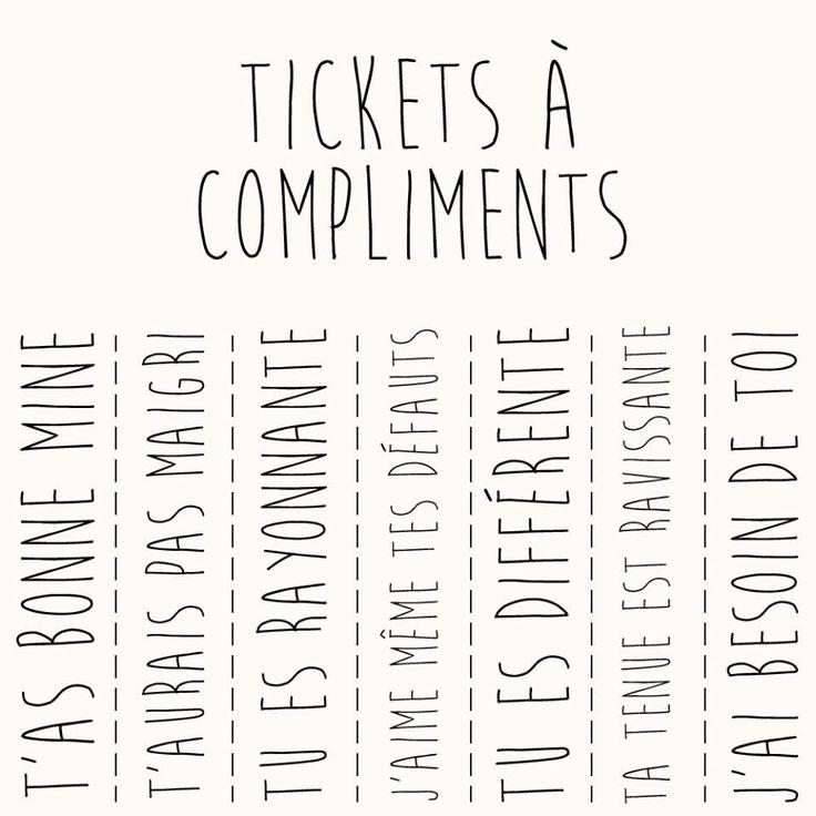 Ticket à compliments