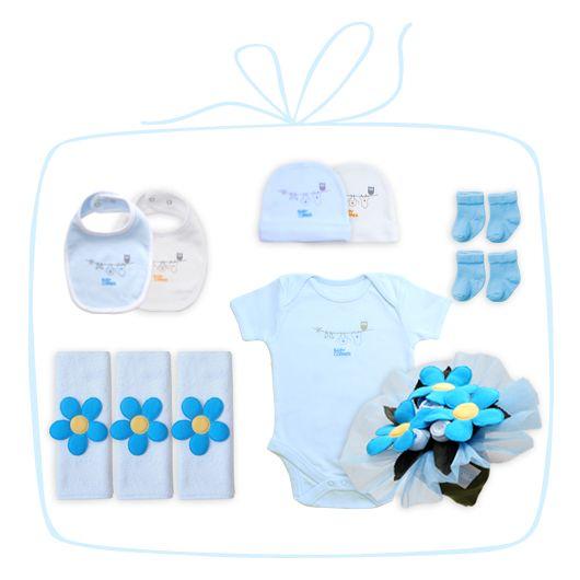 Bebek Buketi - mavi ::