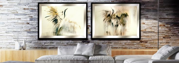 Eleganckie łączenie obrazów w nowoczesnych wnętrzach