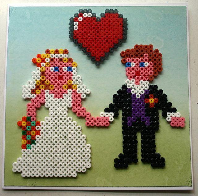 Hama bead wedding by a splash of sparkle | Flickr