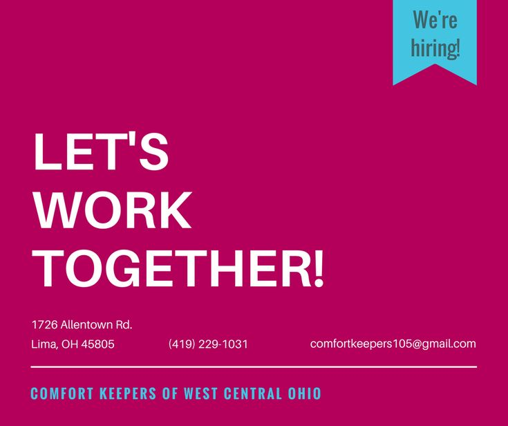Comfort Keepers Lima, Ohio - We're hiring! View our open positions.