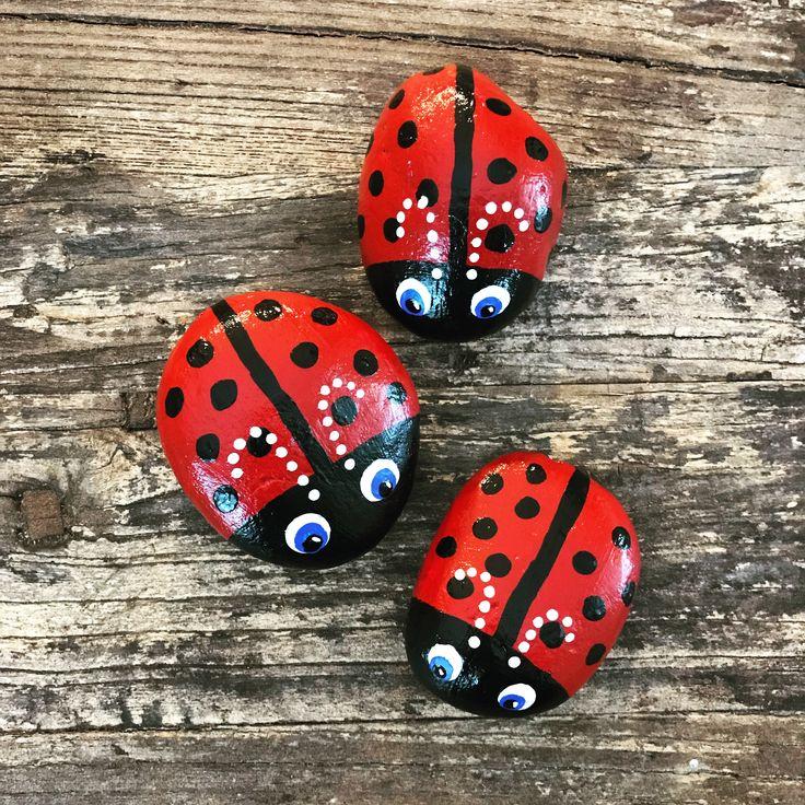 797 besten pebbles and stones ladybugs bilder auf. Black Bedroom Furniture Sets. Home Design Ideas
